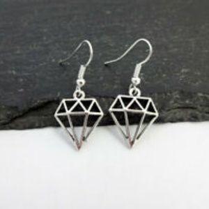 4/$20~~Diamond Charm Earrings